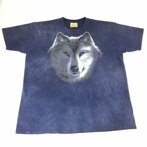 The Mountain Wolf Face T Shirt Size XL Tie Dye